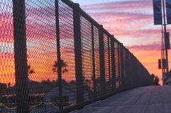 Solnedgång på solnedgång Fotografering för Bildbyråer
