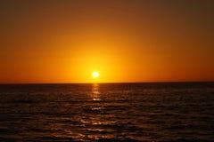Solnedgång på St Pete Beach, Florida Fotografering för Bildbyråer