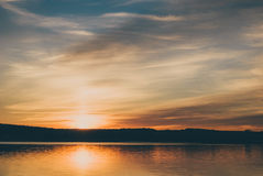 Solnedgång på Staryi Saltiv Royaltyfria Bilder