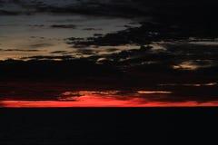 Solnedgång på Stilla havet Nära Asien Arkivbild