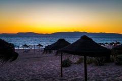 Solnedgång på strand II Arkivbilder