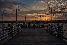 Solnedgång på Sts Mary flod Kanada Fotografering för Bildbyråer