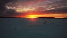 Solnedgång på Susisuo Royaltyfria Foton