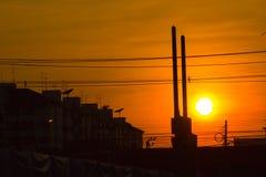 Solnedgång på Thailand Royaltyfria Bilder