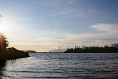 Solnedgång på Tofino Fotografering för Bildbyråer
