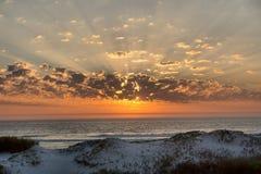 Solnedgång på västkusten Fotografering för Bildbyråer
