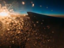 Solnedgång på vingen Royaltyfri Fotografi