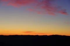 Solnedgång Piemonte Royaltyfria Foton