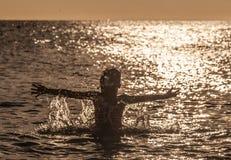 Solnedgång - PortoMari Royaltyfri Fotografi