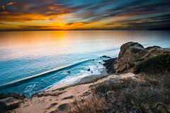 Solnedgång punktDume för statlig strand Arkivbilder