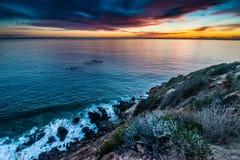 Solnedgång punktDume för statlig strand Arkivfoto