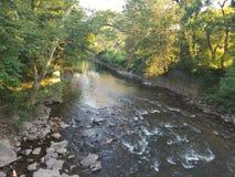 Solnedgång River Valley royaltyfri fotografi