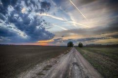 Solnedgång runt om Olomouc Fotografering för Bildbyråer