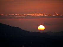 Solnedgång Salzburg, Österrike Arkivfoto