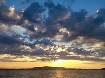 Solnedgång Santo Stefano Royaltyfri Foto