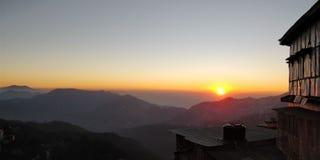 Solnedgång shimla, afton royaltyfria foton