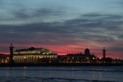 Solnedgång solnedgång Arkivbild