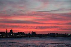 Solnedgång solnedgång Arkivfoton