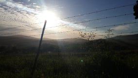 Solnedgång-/solstrålar Arkivbilder