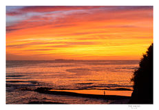 Solnedgång-/soluppgångshoreline, puntamita, Mexiko Royaltyfria Foton