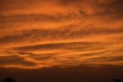 Solnedgång, som det är några gånger på brand Royaltyfria Bilder