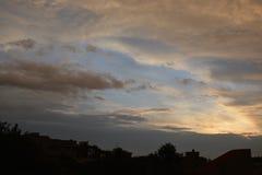 Solnedgång, som det är några gånger på brand Royaltyfri Bild
