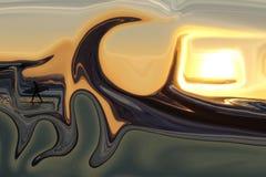 Solnedgång Surf_00013_A - få klart för en stor vågritt royaltyfri foto
