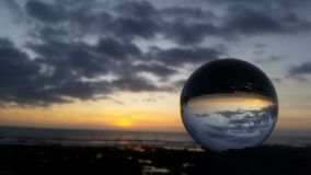 Solnedgång Tenerife Royaltyfri Foto