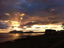 solnedgång tenerife Arkivfoton