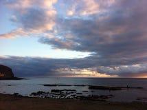 solnedgång tenerife Arkivfoto