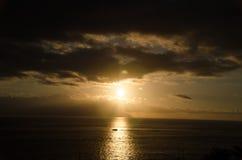 solnedgång tenerife Fotografering för Bildbyråer
