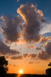 solnedgång texas Royaltyfri Foto