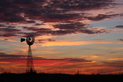 solnedgång texas Arkivfoton