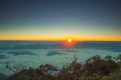 Solnedgång Thailand Arkivbild