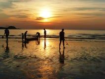solnedgång thailand royaltyfri foto