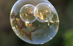 Solnedgång till och med en bubbla II Royaltyfri Fotografi