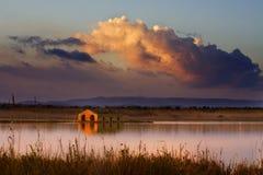 solnedgång till vendicarien Royaltyfri Foto