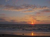 Solnedgång Torrance Beach, Los Angeles, Kalifornien Arkivfoton