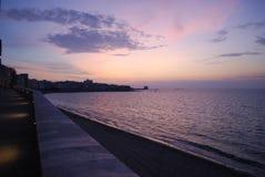 solnedgång trapani Royaltyfri Foto