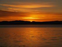 solnedgång trondheim Royaltyfri Foto
