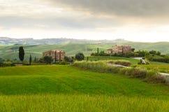 Solnedgång Tuscany Royaltyfri Fotografi