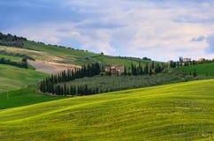 Solnedgång Tuscany Arkivfoton