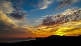 solnedgång tuscany arkivbilder