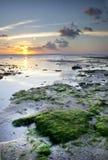 Solnedgång Ujung Genteng, Sukabumi Royaltyfri Foto