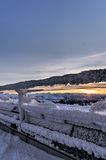 Solnedgång uppifrån av Saentis Fotografering för Bildbyråer