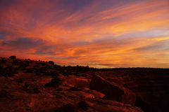 solnedgång utah Royaltyfri Bild