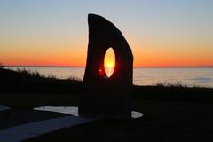 Solnedgång västra Island. Royaltyfria Bilder