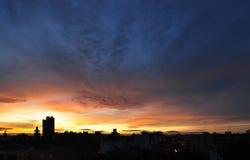 solnedgång valencia Royaltyfri Fotografi
