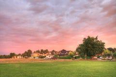 solnedgång vancouver Fotografering för Bildbyråer