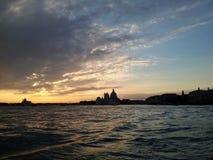 solnedgång venice Royaltyfri Fotografi